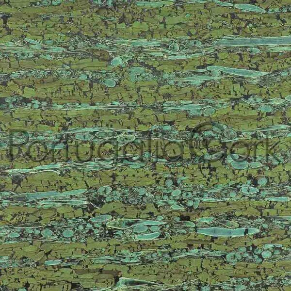 Cork and Fennel fabric Green