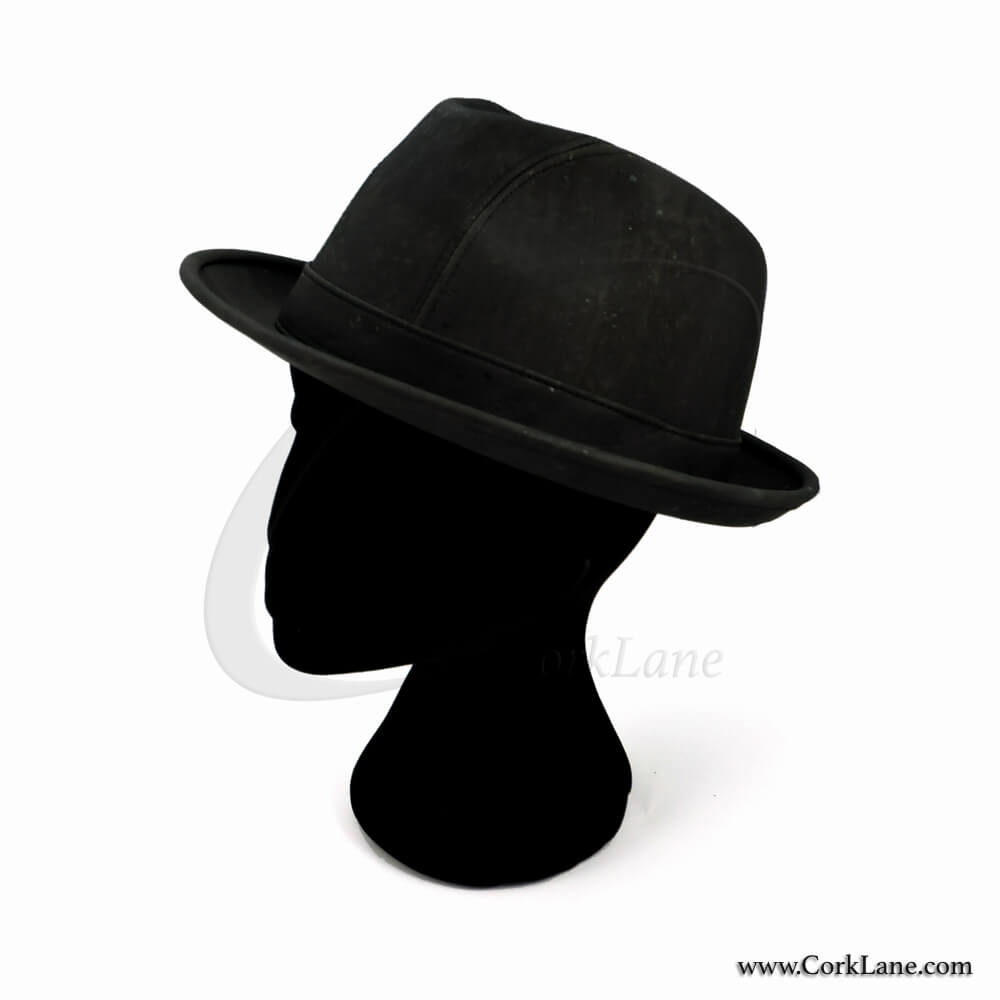 Trilby hat black - vegan fashion accessories produced in Portugal eaf3bb3c932