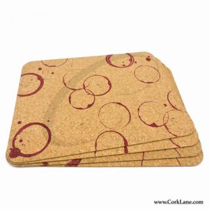 Table mats printed wine