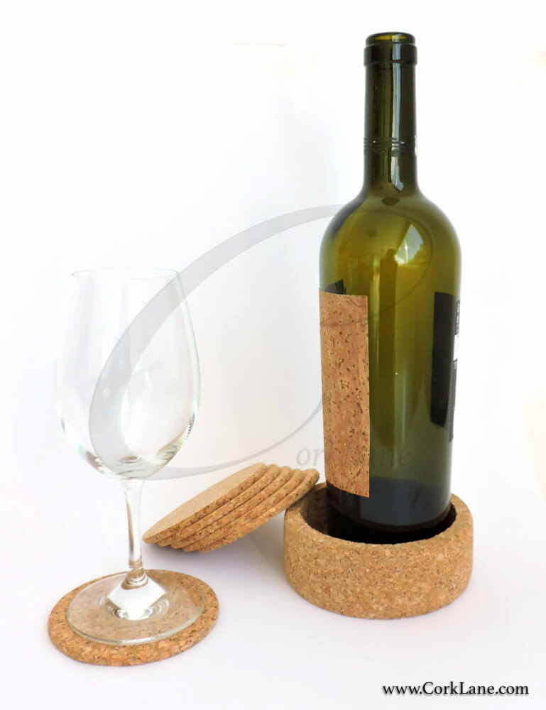 Coasters & bottle holder