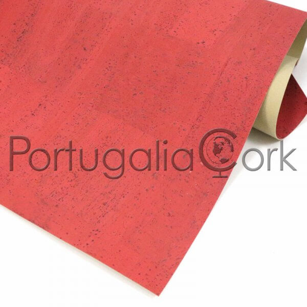 Cork fabric Living Coral