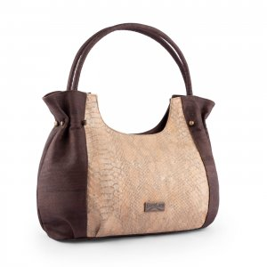 Caiman tote bag brown