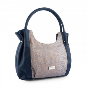 Caiman tote bag blue