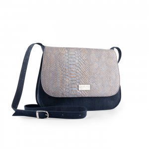 Caiman shoulder bag blue