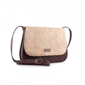 Caiman shoulder bag brown