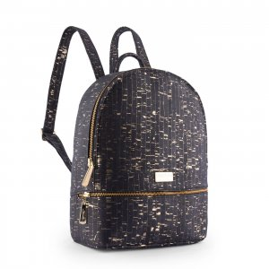 Sparkle backpack black with gold