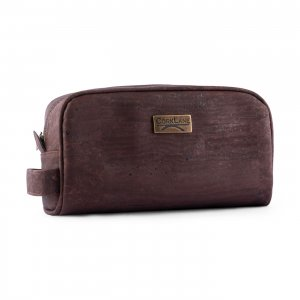 Cosmetic bag 1 zip brown
