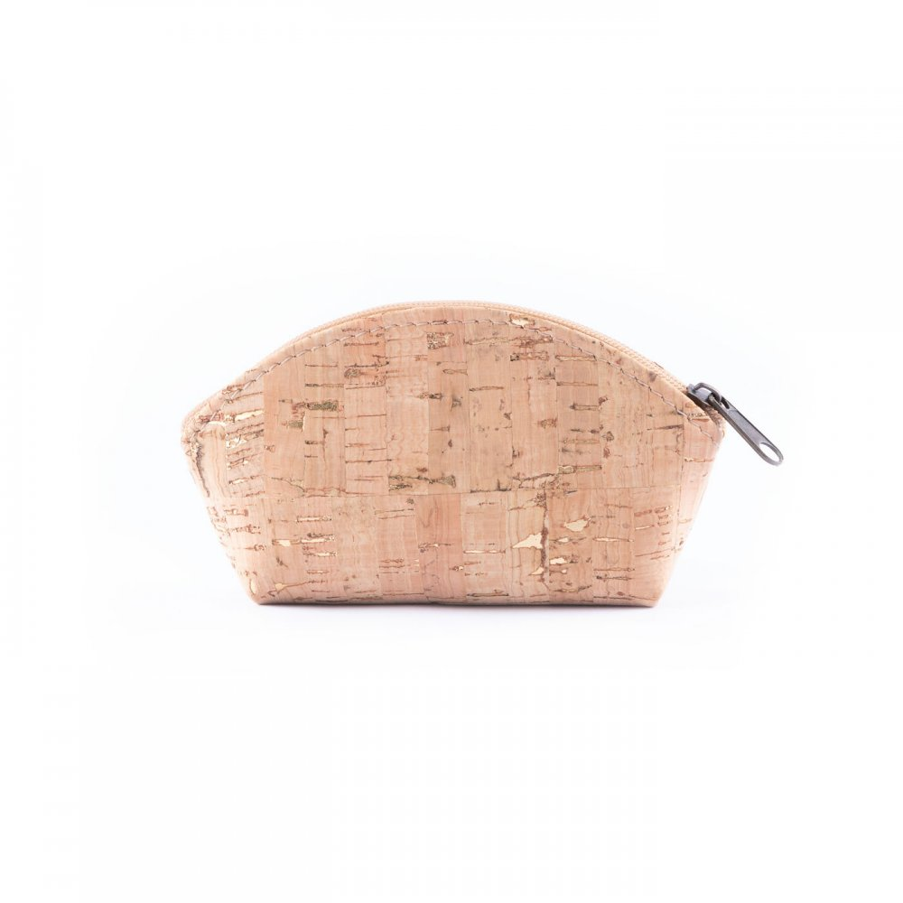 Coins purse natural with gold