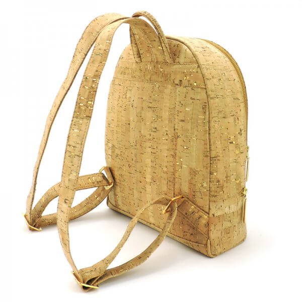Backpack natural with gold