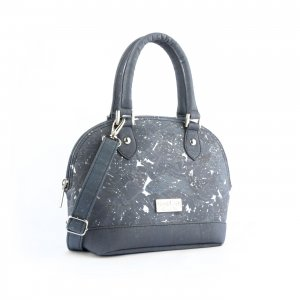 Glossy Marble Dome bag Charcoal Grey