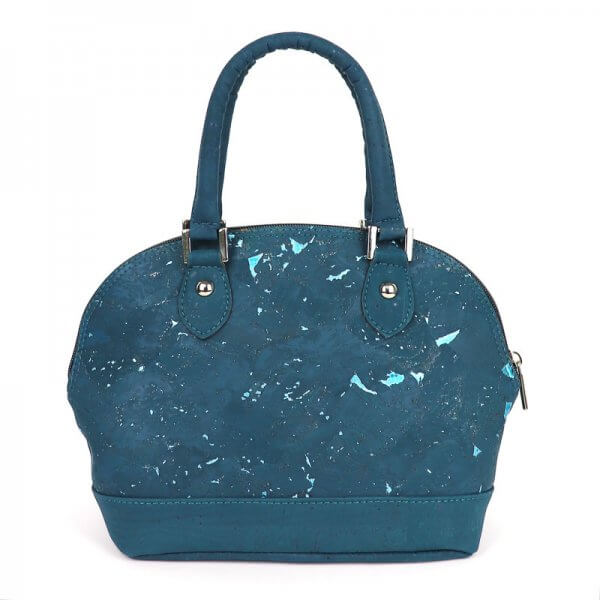 Glossy Marble Dome bag Teal