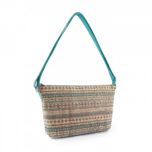 Aztec shoulder bag turquoise