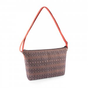 Aztec shoulder bag red