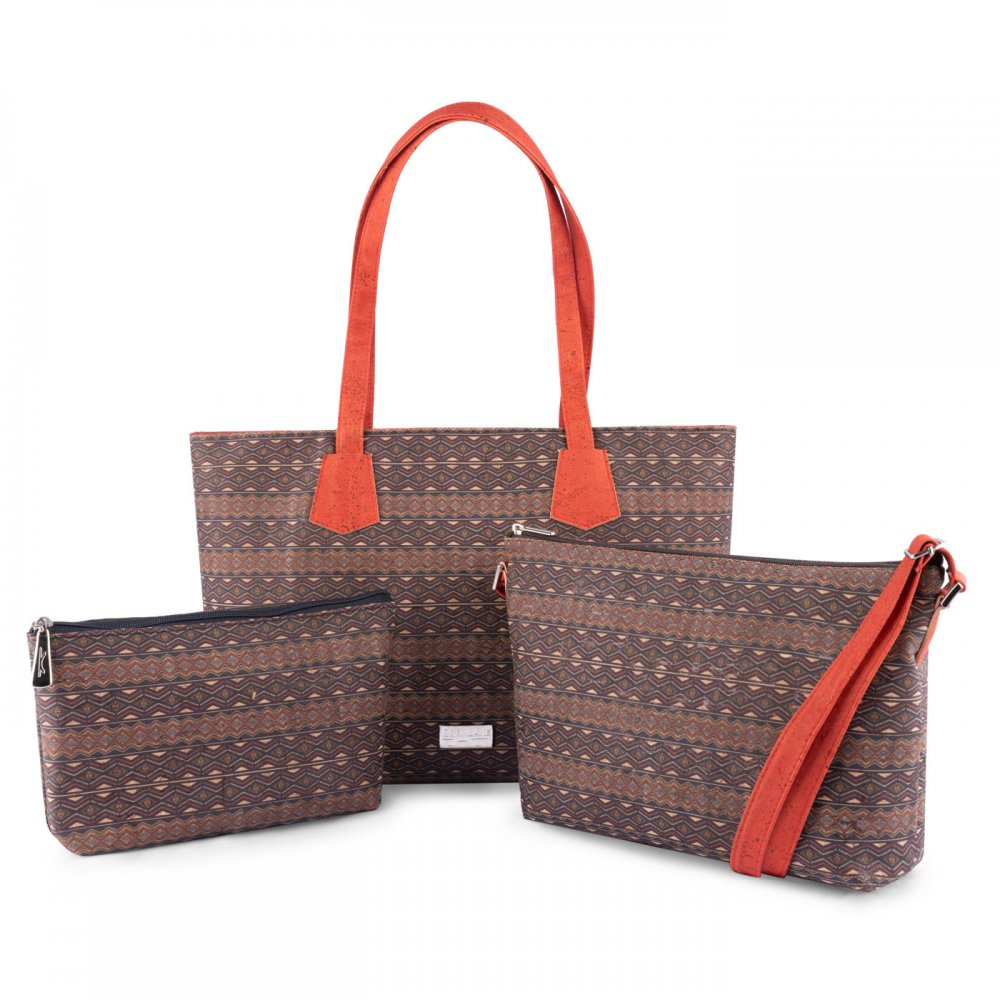Aztec tote bag red